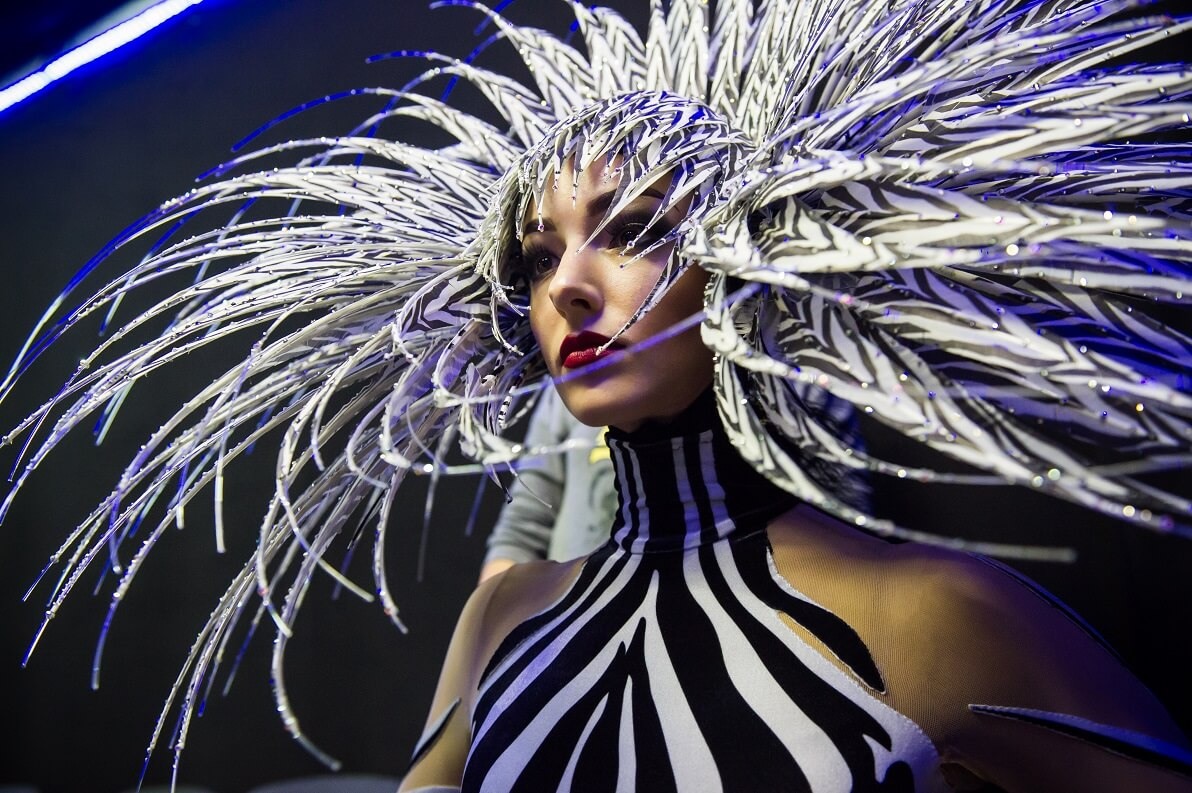 Zebra Woman | VIVID Grand Show | Philip Treacy