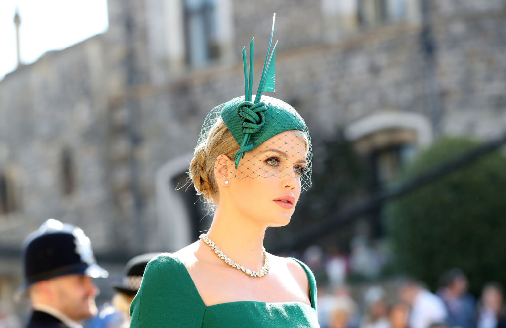 1bfe3419efd783 The British it girl and niece of Princess Diana, Lady Kitty Spencer, also  added a final flourish to her outfit with a charming headpiece by Philip  Treacy.