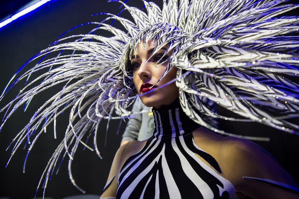 Zebra Woman | VIVID Grand Show | Philip Treacy